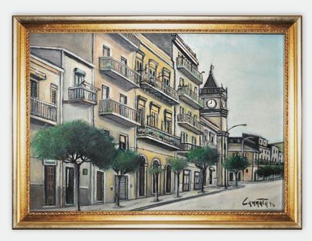 C.so Regina Margherita, casa di V. De Simone (Santina Cannata) - Tela n. 6