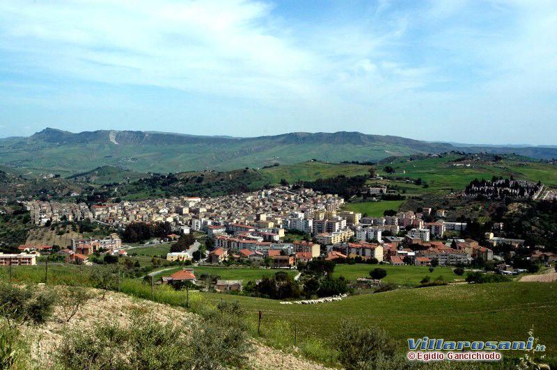 Panoramica di Villarosa